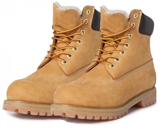 Timberland желтые 10061 (зимние с мехом), женские 2033 38ed760188d